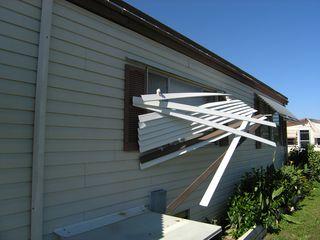 Tornado damaged awning