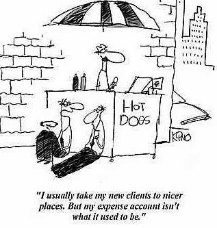 Cartoon - expense-account