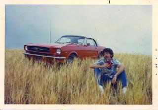 Mustang in grass - taken 1972