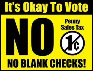 Graphic vote no penny sales tax