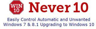 Never10 logo