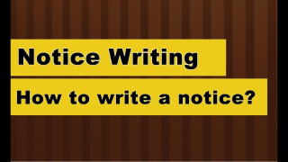 Notice writing image