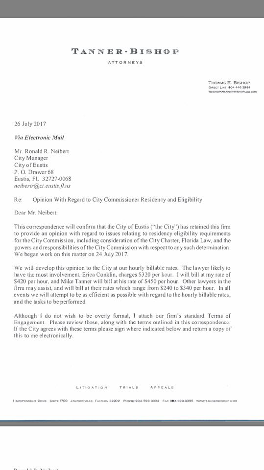 attorney engagement letter three liberal eustis fl council members reduce city image 20522